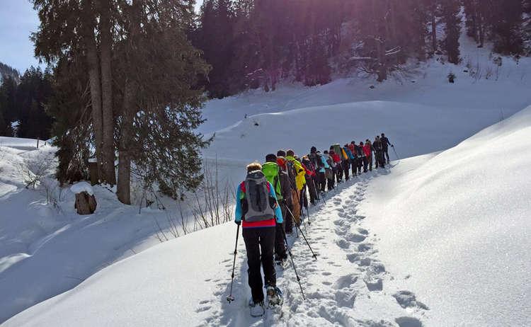 12 Stunden Schneeschuh Tour