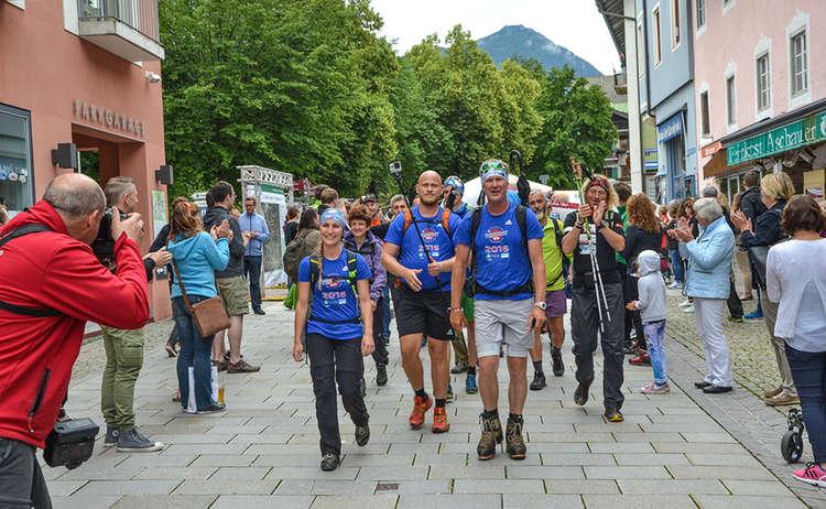 24 Stunden Untersberg extrem Wanderer im Ziel