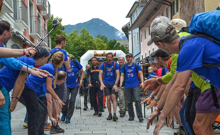 24 Stunden Watzmann alpin Wanderer im Ziel