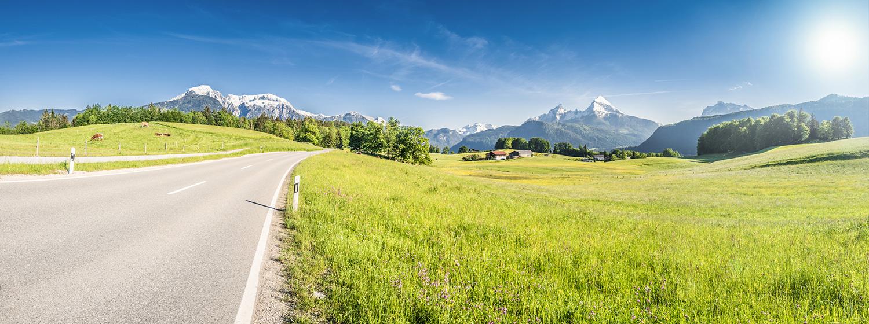 Auch der größte Stress der Anreise ist wie weggeblasen, wenn man zum ersten Mal das Panorama des Berchtesgadener Lands erblickt.