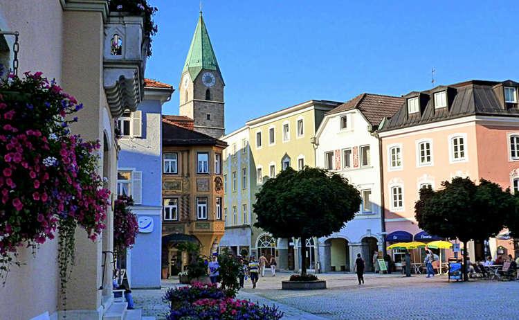 Abend In Der Alpenstadt Bad Reicehnhall