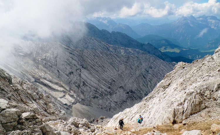Abstieg vom Hochkalter durchs Ofental © Lisa Graf-Riemann