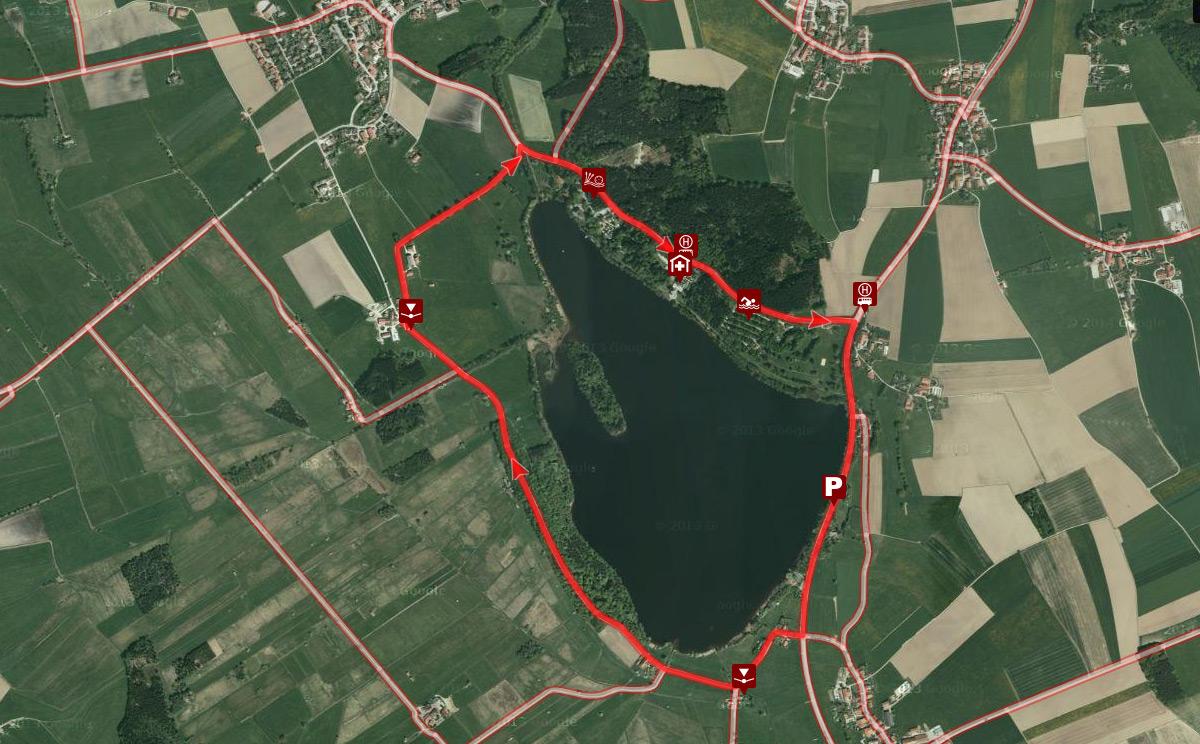 Topographie Abtsdorfer See Wanderung
