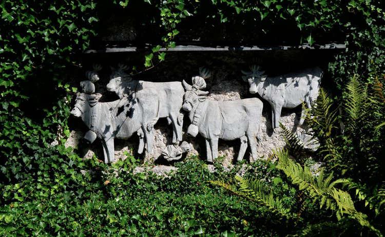 Almabtrieb Relief Kurgarten
