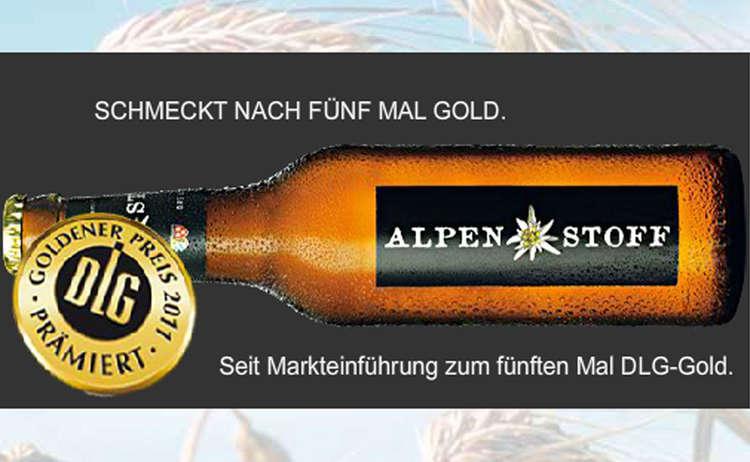 Alpenstoff Bier vom Bürgerbräu Bad Reichenhall