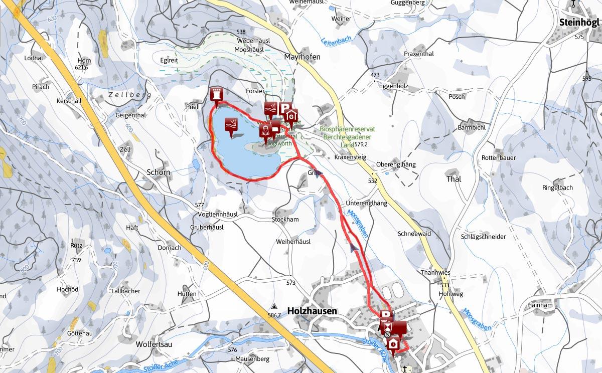 Winterwandern Rundtour Anger - Höglwörth