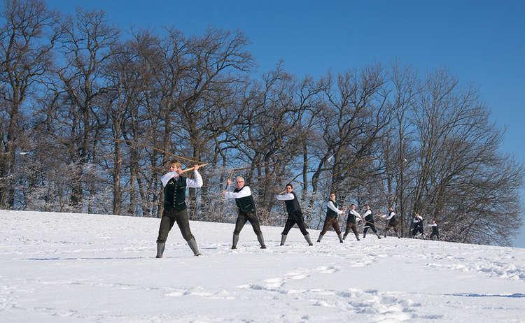 Aperschnalzen Fruehling Winter Bayern