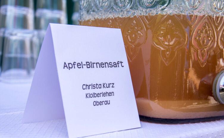 Apfel Birnen Saft | Bäuerlicher Buffetservice