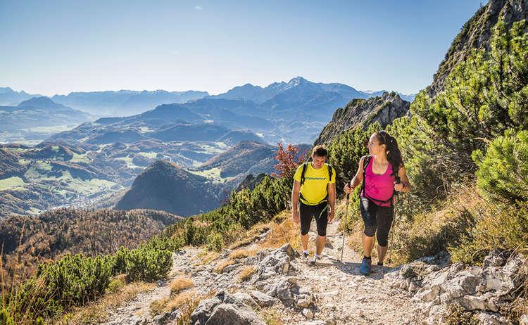 Aufstieg zur Toni Lenz Hütte am Untersberg