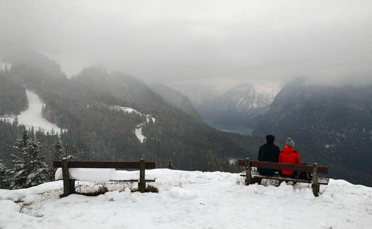 Aussicht Brandkopf Koenigssee Winter