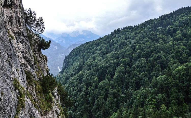 Aussicht Vom Gruesntein Klettersteig Berchtesgaden
