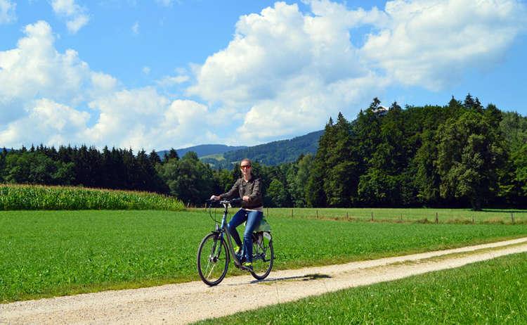 Radfahren zwischen Bayern und Salzburg