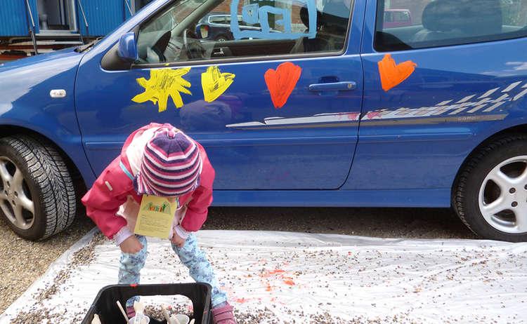 Auto Bemalen Kindertag