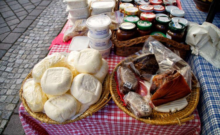 Regionale Produkte am Berchtesgadener Wochenmarkt