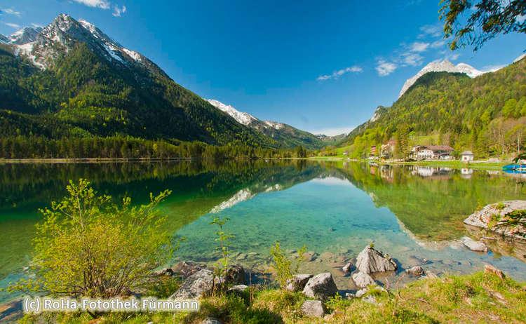 Berchtesgaden Ramsau Hintersee Hochkalter Wasser