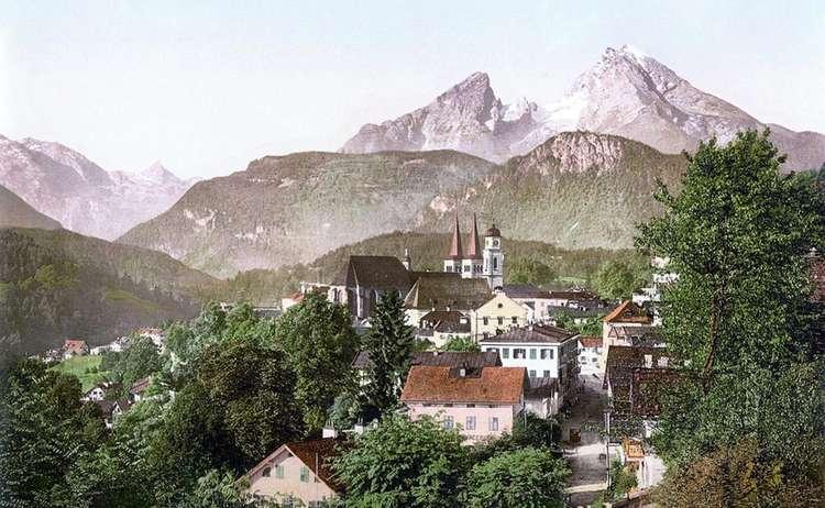 Berchtesgaden und der Watzmann um 1900