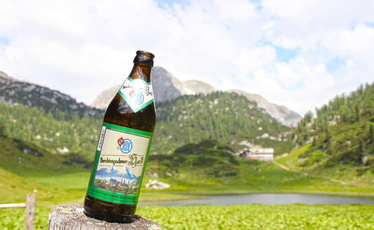 Berchtesgadener Bier am Funtensee