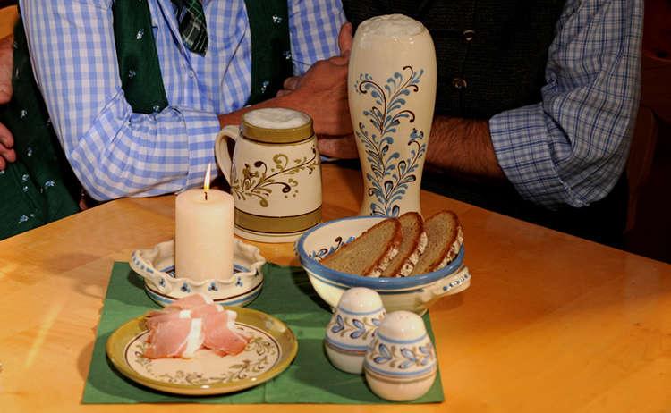 Berchtesgadener Keramik Brotzeitgeschirr