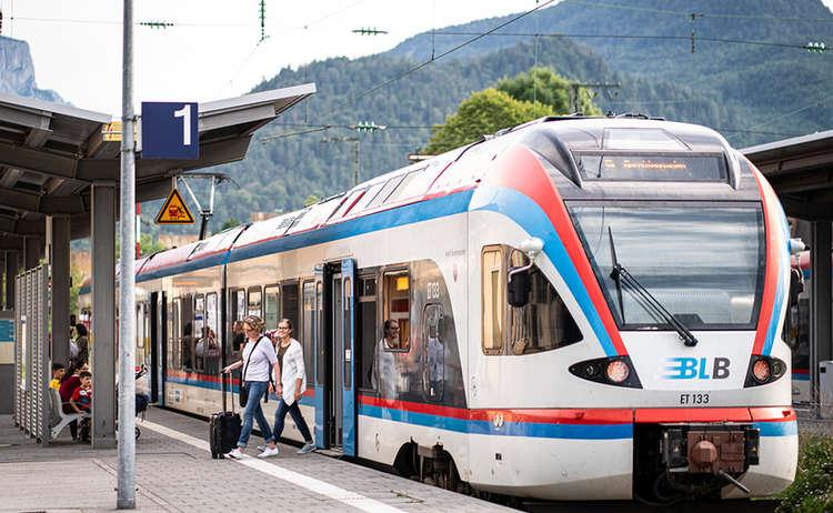 Die Berchtesgadener Land Bahn im Hauptbahnhof Bad Reichenhall