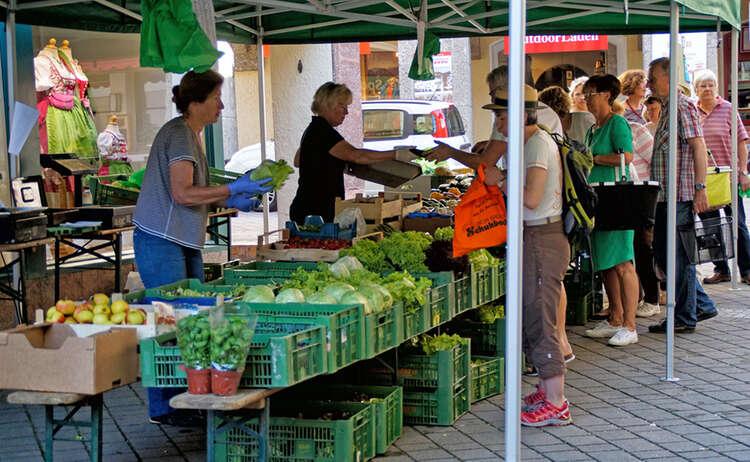Berchtesgadener Wochenmarkt Bauernmarkt