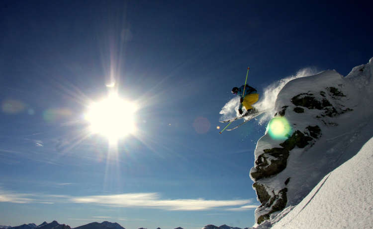 Berginale Skifahrer