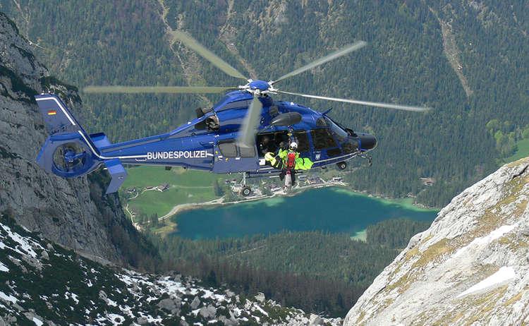 Bergrettungsuebung Bundespolizei