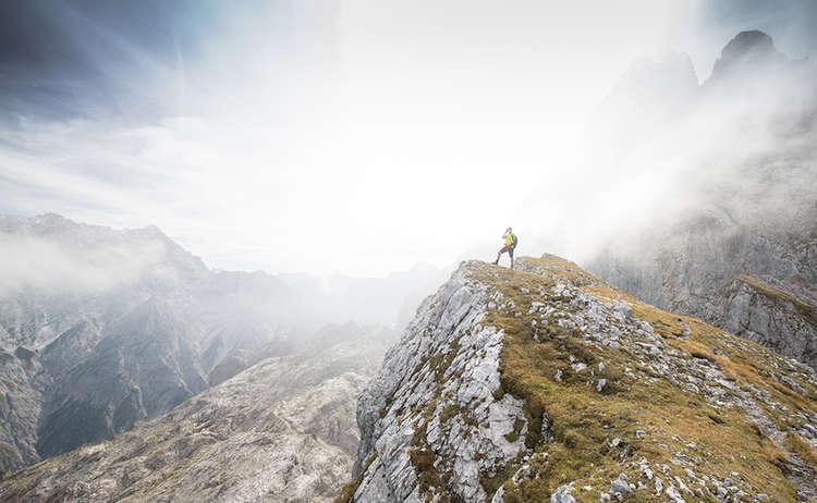 Auf dem Weg zur Schärtenspitze: Bergtour im Blaueisgebiet
