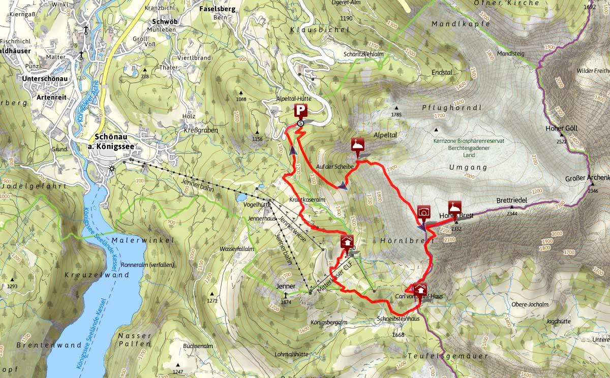 Bergtour über Brettgabel aufs Hohe Brett