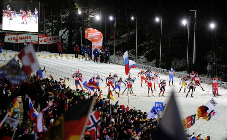 Biathlon In Der Chiemgau Arena