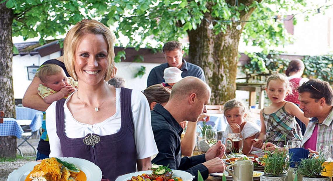 Biergarten Essen Berchtesgaden