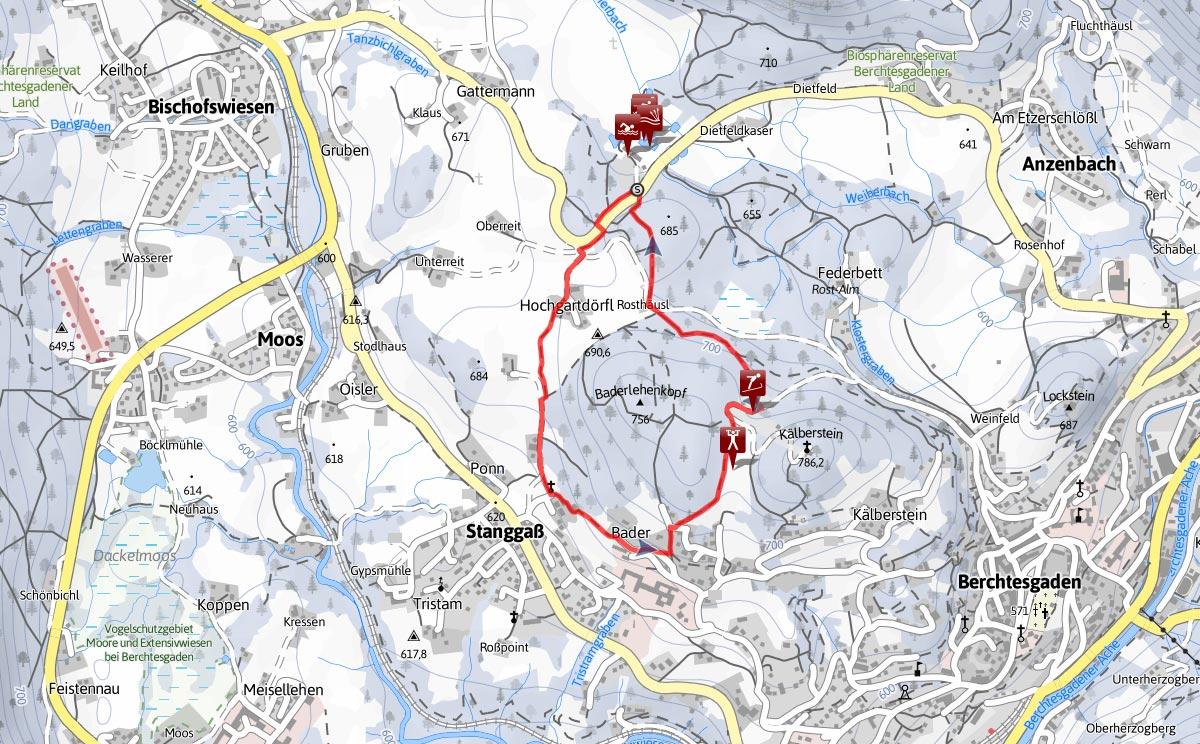 Winterwanderung Zur Kälbersteinsprungschanze