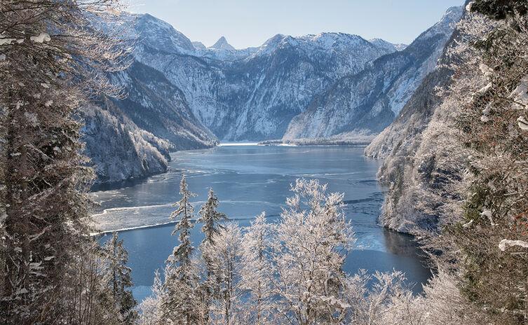 Blick Ueber Den Koenigssee Winter Malerwinkel