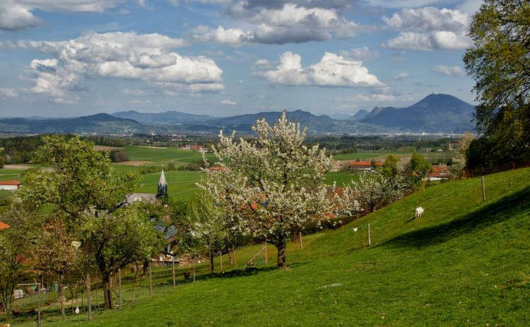 Blick Vom Hoegl Ins Salzburger Land