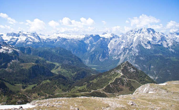 Blick Zum Watzmann Im Aufstieg Zum Hohen Brett