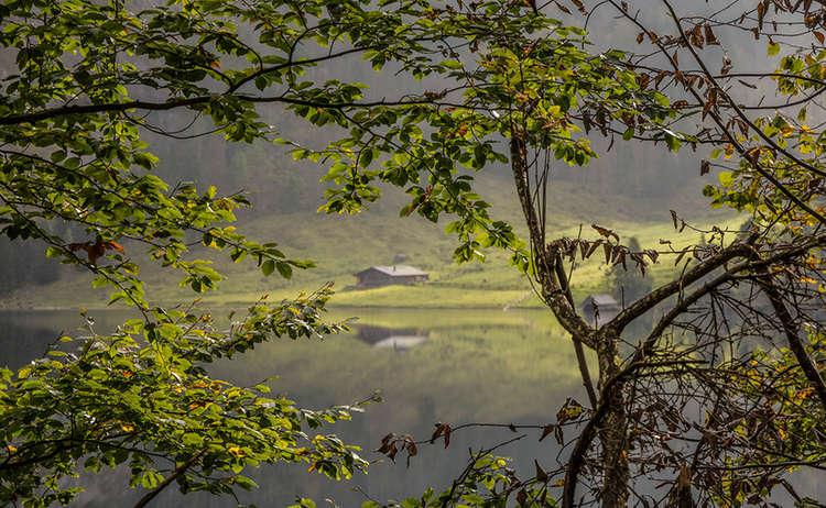 Blick Zur Fischunkelalm Herbst