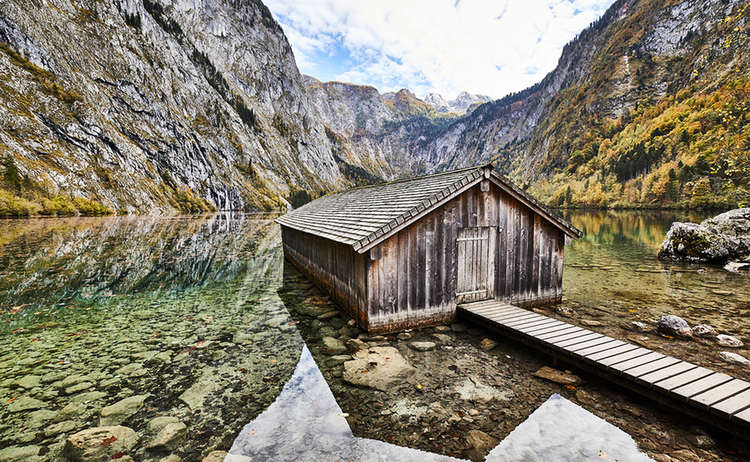 Boathouse Lake Obersee Koenigssee Berchtesgaden