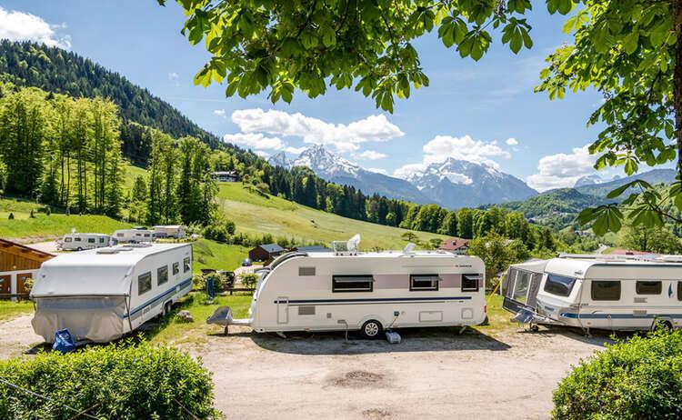 Camping Allweglehen mit watzmannblick