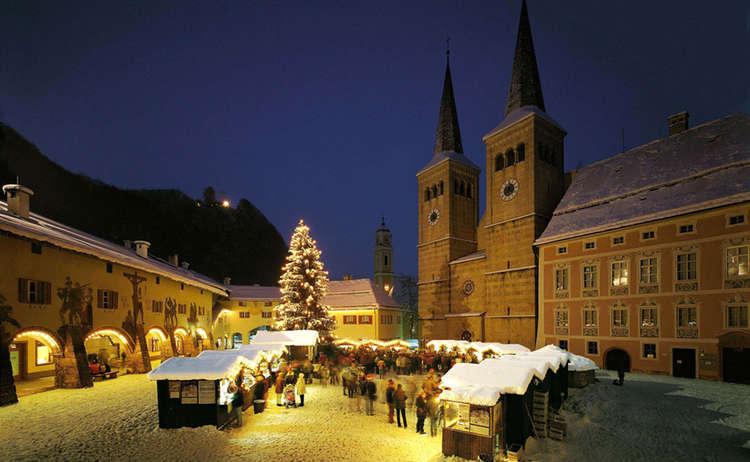 Christkindlmarkt Schlossplatz Berchtesgaden