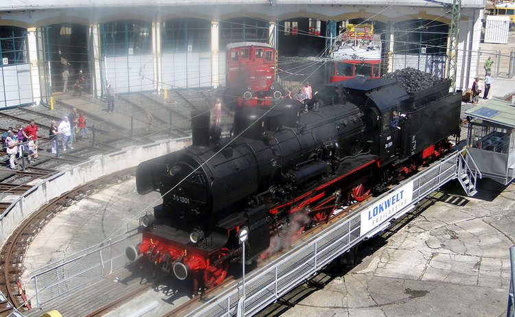 Dampflok Drehscheibe