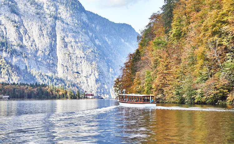 electric passenger boat on lake Königssee