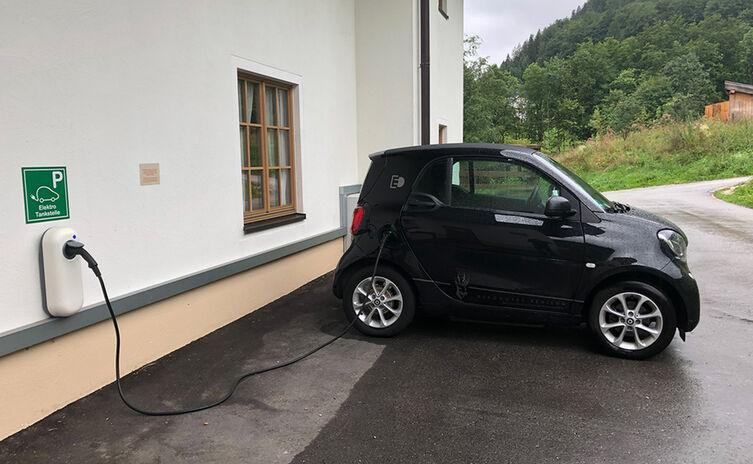 Elektro Tankstelle Hotel Rehlegg Ramsau
