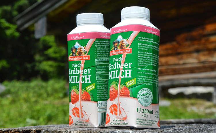 Bergbauernmilch: Erdbeermilch fast wie selbstgemacht