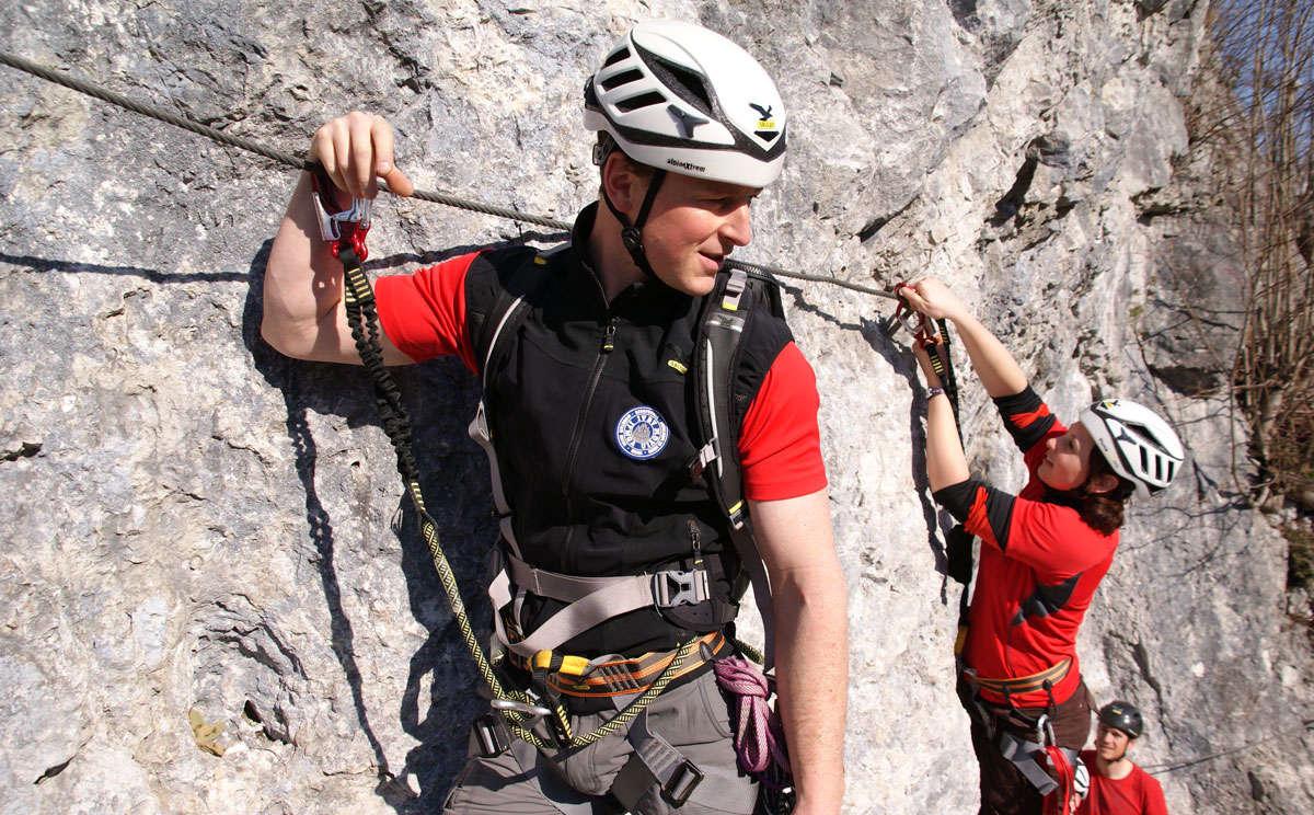 Erste Schritte Im Klettersteig 2