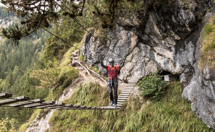 Erste Schritte Im Klettersteig 6