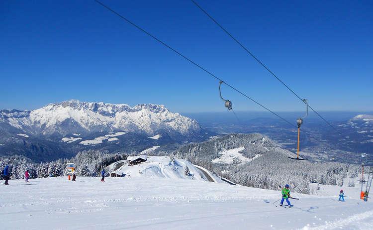 Familien Skigebiet Rossfeld Berchtesgaden