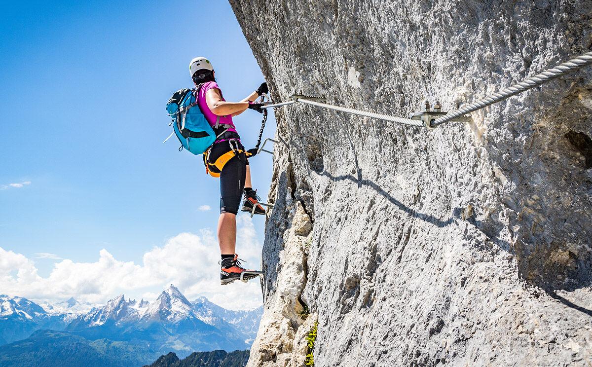 Klettersteig Hochthron : Berchtesgadener hochthronsteig am untersberg