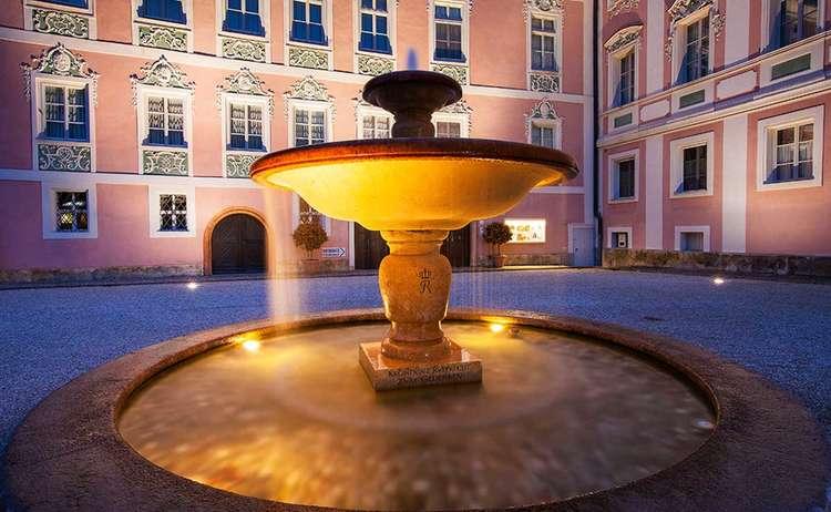 Fountain Royal Castle Berchtesgaden Bavaria