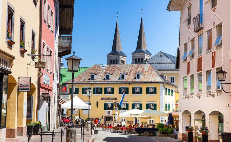 Die Fußgängerzone Berchtesgaden