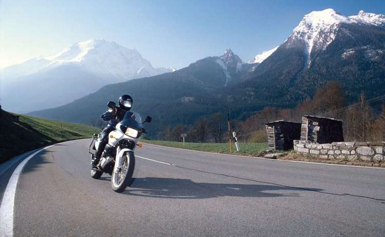 Motorbike on German Alpine Road