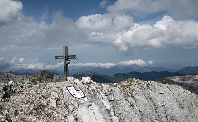 Das Gipfelkreuz des Stadelhorns 2.286 Meter